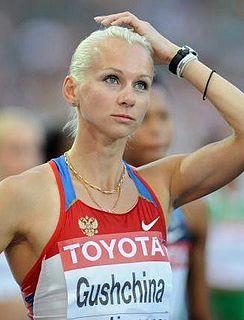 Yuliya Gushchina Russian sprinter
