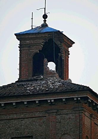 Castello Estense - The tower that was damaged in the 2012 Northern Italy earthquake.