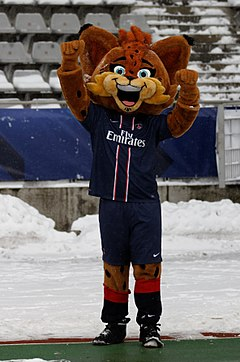 Germain the lynx, mascot of PSG.