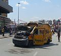 2013 Taksim Gezi Park protests, NTV broadcast van at Taksim Square on 3rd June.JPG