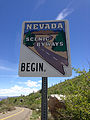 2014-06-22 12 32 14 Nevada Scenic Byways sign at the south end of Nevada State Route 231 (Angel Lake Road).JPG
