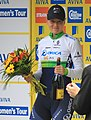 2015 Women's Tour - 82 Gracie Evlin stage 8 most combatative rider (cropped).JPG