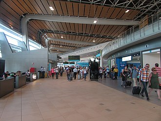 Faro Airport - Inside the arrivals hall at Faro airport