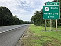 2018-08-09 09 32 34 View south along U.S. Route 9 and New Jersey State Route 444 (Garden State Parkway) 1 mile north of Exit 25 (U.S. Route 9 SOUTH, Ocean City) in Upper Township, Cape May County, New Jersey.jpg