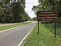 2019-09-09 13 45 02 View southeast along the Clara Barton Parkway at the exit for Carderock (Carderock Division, Naval Surface Warfare Center) in Potomac, Montgomery County, Maryland.jpg