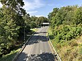 2019-09-11 15 53 55 View northwest along the southeastbound lanes of the Cabin John Parkway (Interstate 495X) from the overpass for Interstate 495 (Capital Beltway) in Potomac, Montgomery County, Maryland.jpg
