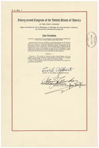 The Twenty Sixth Amendment In The National Archives