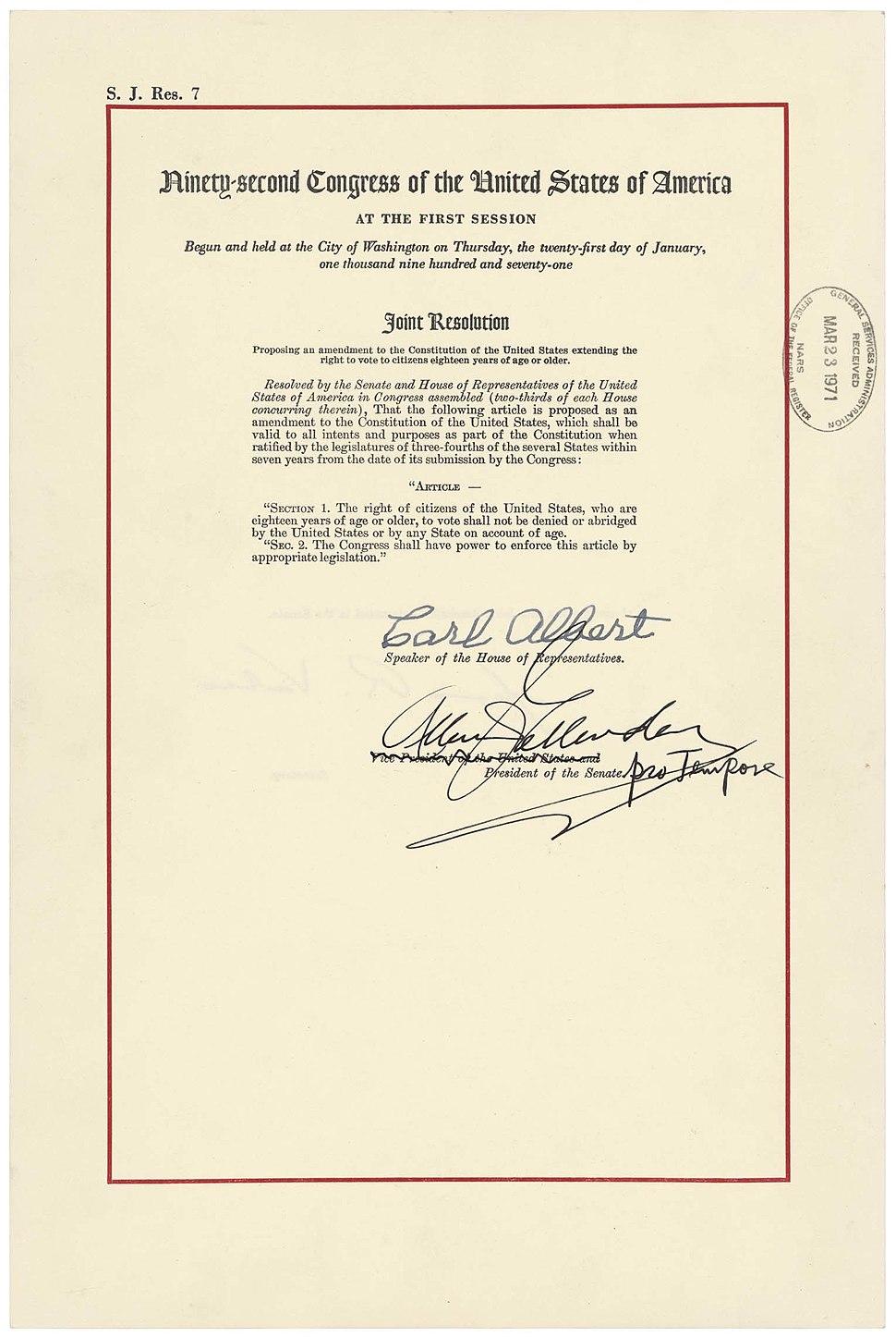 26th Amendment Pg1of1 AC