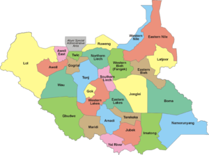 States of South Sudan - Image: 28 States of South Sudan
