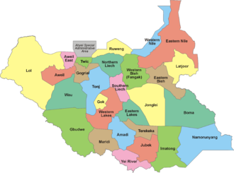 Ethnic federalism - The 28 States of South Sudan since 2015