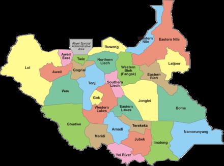Carte Afrique Avec Soudan Du Sud.Soudan Du Sud Wikipedia