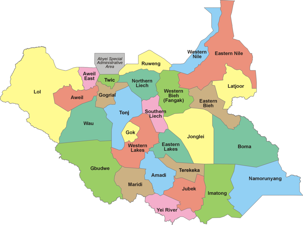 28 States of South Sudan