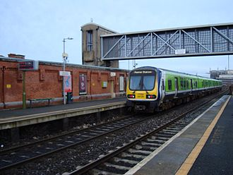 Drumcondra railway station - Commuter 29000 Class at Drumcondra Station