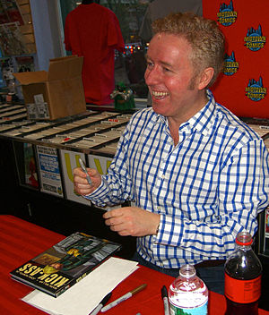 Kick-Ass (comic book) - Millar signing a copy of the collected edition during an appearance at Midtown Comics in Manhattan.