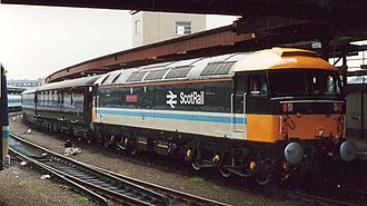 ScotRail (British Rail) - Class 47 in ScotRail livery at York station in 1988