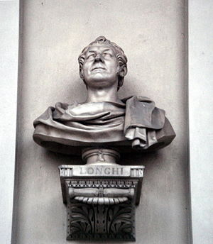 Giuseppe Longhi - Bust of Giuseppe Longhi, on the loggia at the first floor of the Palace of Brera at Milan