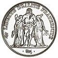5 French francs Hercule de Dupré 1996 F346-2 obverse.jpg