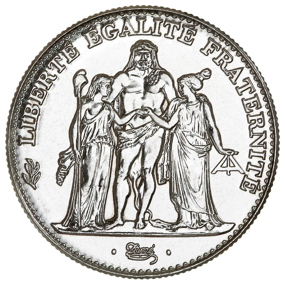 5 French francs Hercule de Dupr%C3%A9 1996 F346-2 obverse