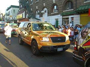 WADO - A WADO car in the 2010 North Hudson Cuban Day Parade in Union City, New Jersey.