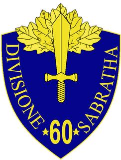 60th Infantry Division Sabratha