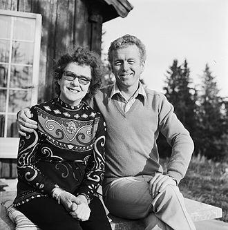 Toralv Maurstad - Tordis and Toralv Maurstad in 1973