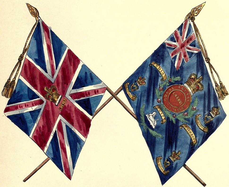 86th Foot colours