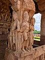 8th century Durga Surya temple a greeting couple at entrance, (Aivalli) Aihole Hindu temples monument.jpg