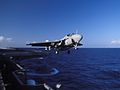 A-6E of VA-115 is launched from USS Independence (CV-62) in 1995.JPEG