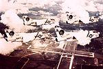 A-7E Corsairs of VA-83 in flight over NAS Cecil Field c1972.jpg
