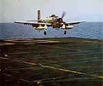 AD-6 VA-15 landing on USS Forrestal (CVA-59) 1957.jpg