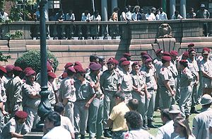 Afrikaner Weerstandsbeweging - AWB Rally, Church Square, Pretoria in 1990.
