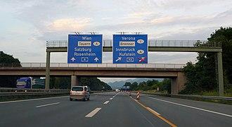 Bundesautobahn 8 - BAB 93 junction near Rosenheim
