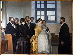 Michael Peter Ancher: A Baptism