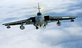 A Tornado GR4 from 125 Squadron based at RAF Lossiemouth soars high above the clouds MOD 45147882.jpg