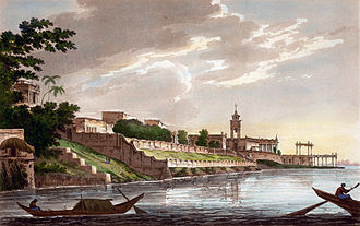 Dutch India - A View of Chinsura the Dutch Settlement in Bengal (1787).