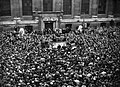 A huge crowd gathered outside the British Museum, to hear Harry Pollitt, General Secretary of the Communist Party of Great Britain, make a speech about Aid to Russia, 1941. D4593.jpg