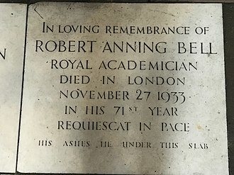 Robert Anning Bell - A memorial to Robert Anning Bell in St James's Church, Piccadilly.