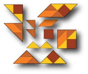 Self-tiling tile set - Image: A setiset showing weakly connected pieces