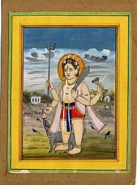 A standing figure of Bhairava, a form of Śiva..jpg