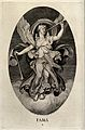A winged woman, standing on a cloud, blowing one of her two Wellcome V0047936.jpg