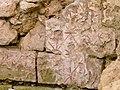 Abbaye de Marmoutier, fouilles archeologiques, traces de peinture murale en forme d'étoiles.JPG