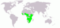 Actophilornis africana map.png