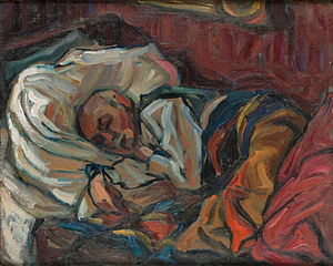 Selma Des Coudres - Her husband, Adolf, Sleeping (Private collection, used by permission)
