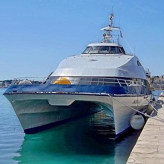 HSC Adriana - Image: Adriana (ship, 1992) IMO 9042104, Split, 2012 04 28