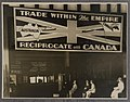 Advertising billboard at Wynyard Railway Station promoting trade between Australia and Canada, 1930 - 1939.jpg