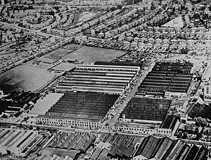 Guy Motors - An aerial view of Guy Motors' Fallings Park Factory