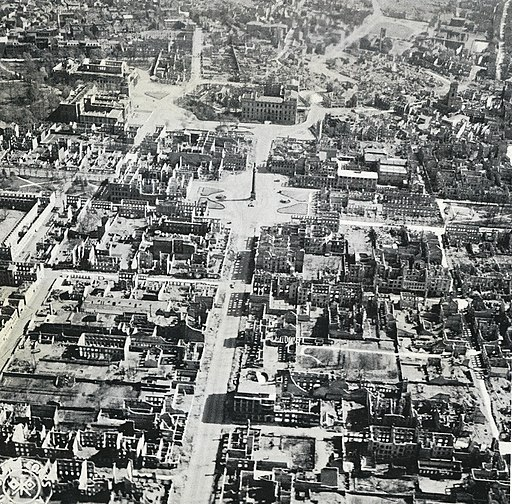 Aerial photograph of Darmstadt 1944 3