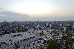 Aerial view of Multan Ghanta Ghar chawk.jpg