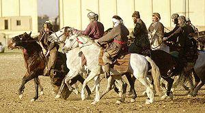 Buzkashi - Game of buzkashi in Mazar-i-Sharif, Afghanistan