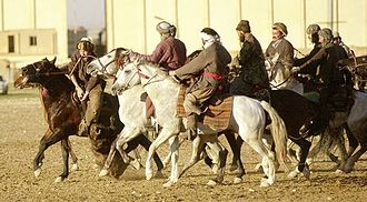 Buzkashi - Game of buzkashi in Mazar-i-Sharif, Afghanistan